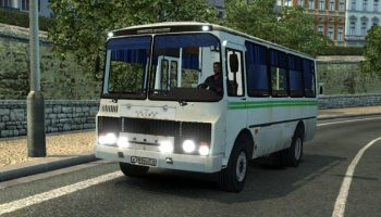 Автобус ПАЗ 32054 для Euro Truck Simulator 2