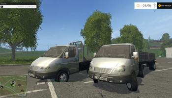 Газель с прицепами для Farming Simulator 2017