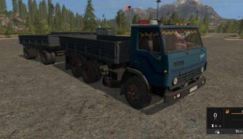 Камаз 5320 + Нефаз 8560 прицеп V 1.1 для Farming Simulator 2017