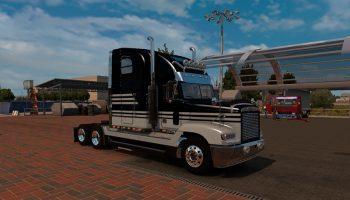 Freightliner FLD 120 Skin BlackGrey для American Truck Simulator