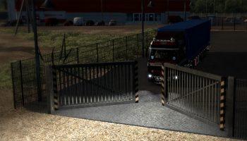 Анимированные ворота компаний v1.28 для Euro Truck Simulator 2