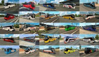 Трафик автобусов v2.7 для Euro Truck Simulator 2
