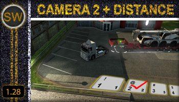 CAMERA 2 + DISTANCE для Euro Truck Simulator 2