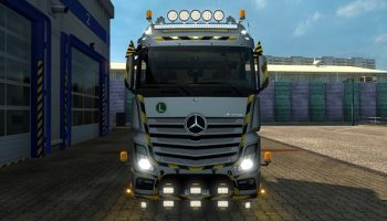 CONSTRUCTION ROOF GRILL + LED BAR для Euro Truck Simulator 2
