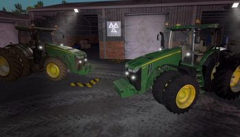 John Deere 8R USA v 1.0.1 для Farming Simulator 2017