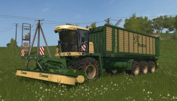 Krone big Mower для Farming Simulator 2017