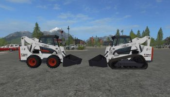 Bobcat skid steer v 1.0 для Farming Simulator 2017