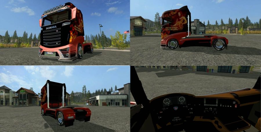 Скачать грузовик Scania R1000 для FS 17