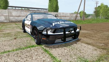 Ford Mustang Shelby GT Police для Farming Simulator 2017