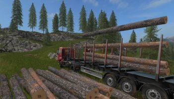 Автозагрузка и выгрузка леса для Farming Simulator 2017