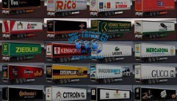 JBK TRAILERPACK для Euro Truck Simulator 2