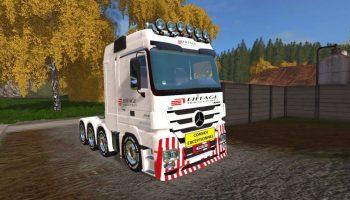 Mercedes Big Actros 4160 для Farming Simulator 2017