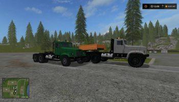 Краз 256 + прицеп m82 special для Farming Simulator 2017