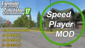 zzz player speed для Farming Simulator 2017