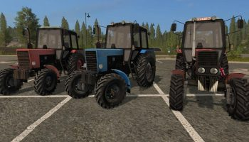 МТЗ 82.1 пак v1.1 для Farming Simulator 2017