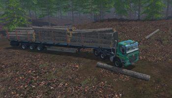 Прицеп для бревен Farming Simulator 2017