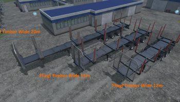 Прицепы для бревен для Farming Simulator 2017