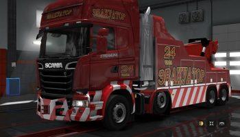 Эвакуатор Scania для Euro Truck Simulator 2