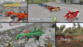 Плуг Agrostroj 3 PZ для Farming Simulator 2017