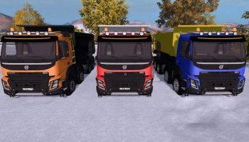 Volvo 8×6 v 1.0 Multicolor для Farming Simulator 2017