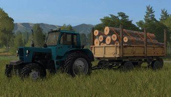 Мод MBP 6.5 с автопогрузкой бревен для Farming Simulator 2017