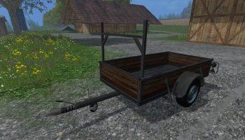 Одноосный прицеп для Farming Simulator 2017