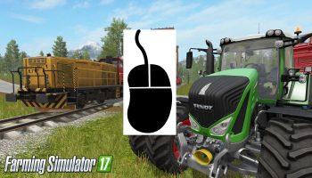 Управление мышью (Control mouse) для Farming Simulator 2017