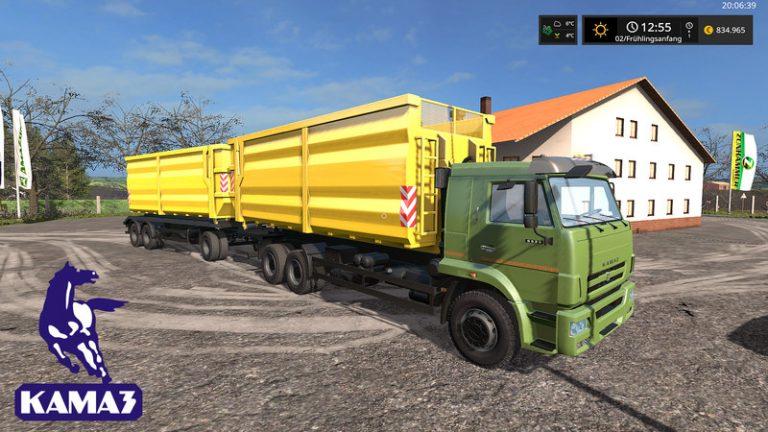 Mod Камаз 65221 Spin Tires Вконтакте