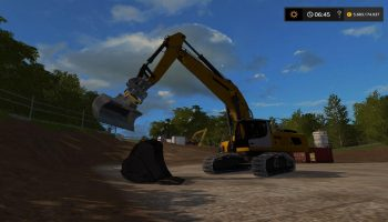 BUCKET FOR VOLVO EC300E ATTACHER V1.0 для Farming Simulator 2017
