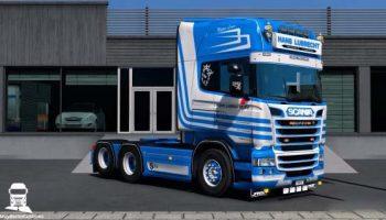 SCANIA HANS LUBRECHT SKIN для Euro Truck Simulator 2