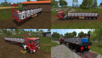 FLATBED WATERTRAILER V1.0 для Farming Simulator 2017