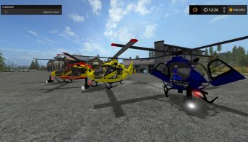 EC 145 SECURITE CIVILE V2.0 для Farming Simulator 2017