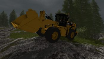 CATERPILLAR 980K V1.0.0.1 для Farming Simulator 2017