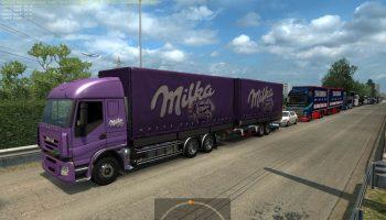 AI TRAFFIC TANDEM COMBOS V4.0 для Euro Truck Simulator 2