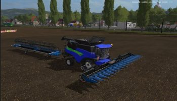 NEW HOLLAND BLUE + CUTTER EDIT V 2.0 для Farming Simulator 2017
