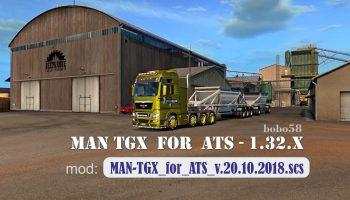 TRUCK MAN TGX IN ATS 1.32.X для American Truck Simulator