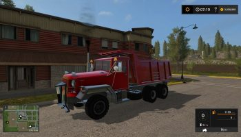 BIG RED DUMP TRUCK V2.0 для Farming Simulator 2017