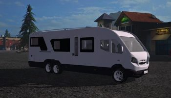 MOTORHOME WITH INTERIOR V1.0 для Farming Simulator 2017