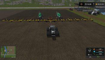 LANTMANEN FS ZELL'S 214FT SOWING RIG V1.0.0.0 для Farming Simulator 2017