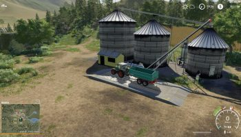 LARGE GRAIN SILO V 1.0 для Farming Simulator 2019