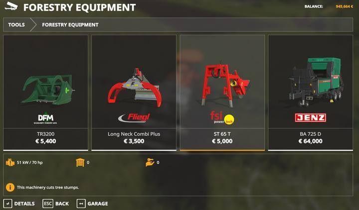 Как убрать пни и кусты в Farming Simulator 19