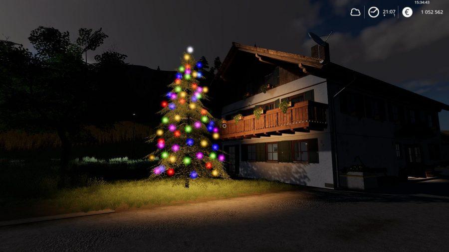 Перемещаемая новогодняя ёлка v1.1 FS19