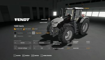 Fendt 1000 Vario v1.0.0.2 FS19 для Farming Simulator 2019