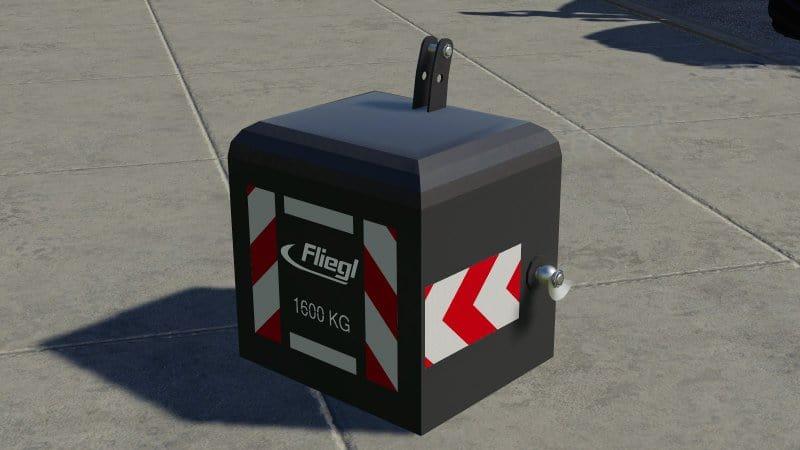 Передний груз Fliegl 1600 кг V1.0 FS19