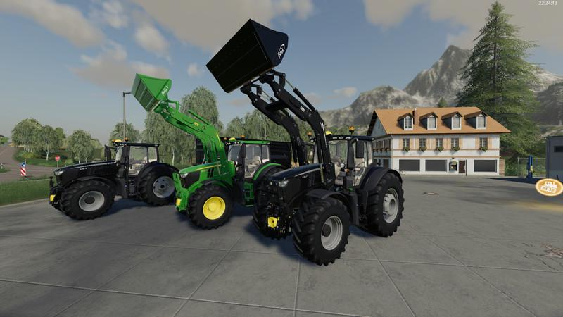 John Deere 6R Black + Green Edition v1.0.0.4 FS19
