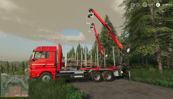 MAN FORST LKW v1.2.2.0 FS19 для Farming Simulator 2019