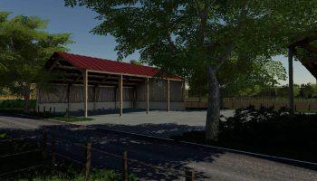 Полуоткрытое хранилище для соломы в FS19 для Farming Simulator 2019