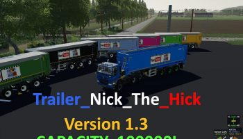 Trailer Nick The Hick v1.0.0.3 FS19 для Farming Simulator 2019