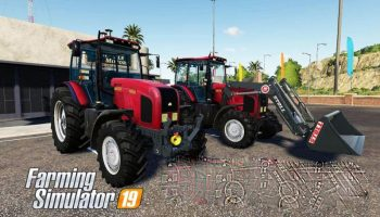 Belarus MTZ-2022 V Tractor v1.3.1 для Farming Simulator 2019