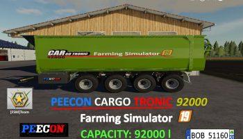 FS19 FSM Peecon Cargo92000 v1.0.0.1 FS19 для Farming Simulator 2019